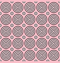 seamless abstract circle pattern background vector image