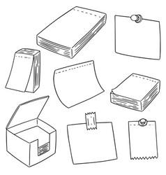 set of memo note vector image