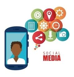 Social media entertainment graphic design vector image