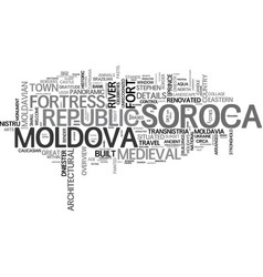 Soroca word cloud concept vector