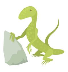 standing lizard icon cartoon style vector image