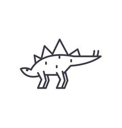 Stegosaurus line icon sign vector