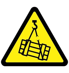 suspended load hazard sign vector image