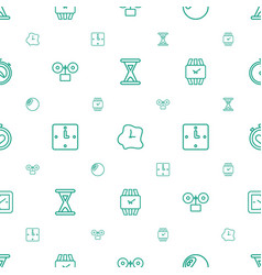 timer icons pattern seamless white background vector image