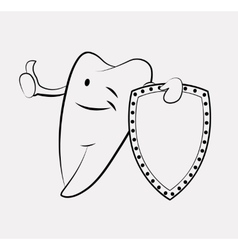 Tooth cartoon vector image