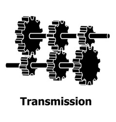 Transmission icon simple black style vector
