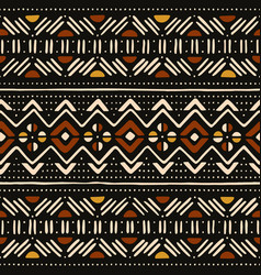 Tribal seamless pattern african mud cloth vector