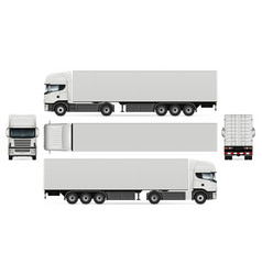 Truck with container mockup vector