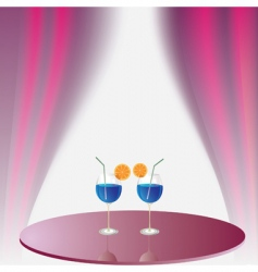 two glasses with beverage vector image