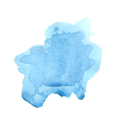 Watercolor blue blot for beautiful banner vector