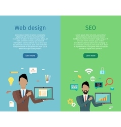 Web Design SEO Infographic Set vector image