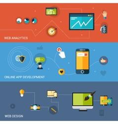 Web Development Banner vector