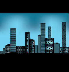 xacity scape black architectural building icon vector image