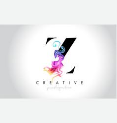 z vibrant creative leter logo design with vector image