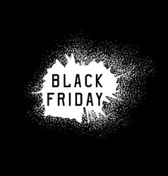 black friday sale holiday grunge vector image