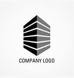building icon for company logo vector image vector image