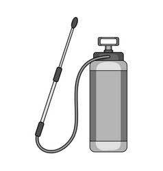 Dispenser for disinfection single icon in vector