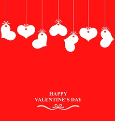 heart hanging red vector image vector image