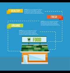 Organic food concept infograhics template vector image