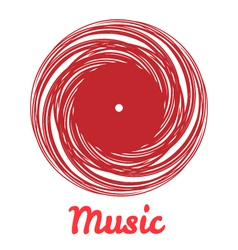 Stylized monochrome music vinyl record logo vector image vector image