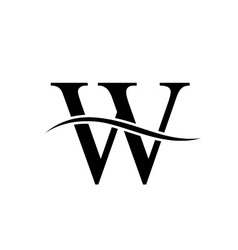 w alphabet logo vector image