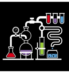 Chemistry Laboratory Infographic Set 3 vector image vector image