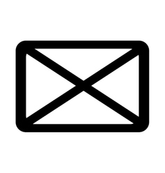 isolated mail envelope graphic vector image