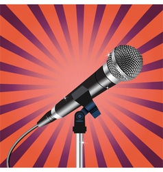 Microphone cord Rays zoom vector image vector image