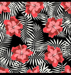 rtopical pattern on black vector image