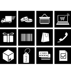 trade icons vector image vector image