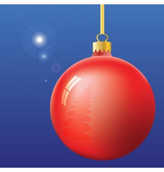 Christmas Eve First Star and ball vector image vector image
