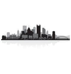 Pittsburgh USA city skyline silhouette vector image vector image