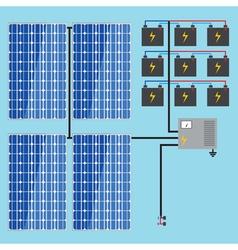 solar battery energy panel home power eco sun en vector image