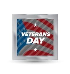 Veteran day badge vector image