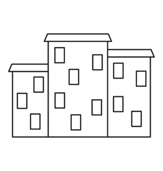 Argentine houses icon outline style vector