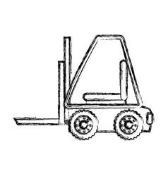 forklift cargo vehicle vector image