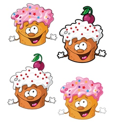 funny cake vector image vector image