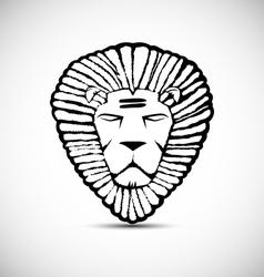 Lion logo design rastafarian concept vector image vector image