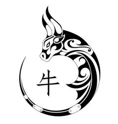 ox tribal tattoo vector image