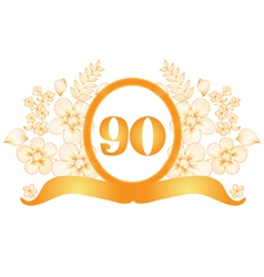 90th anniversary banner vector