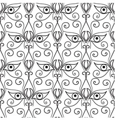 abstract eyes seamless pattern ornamental ethnic vector image