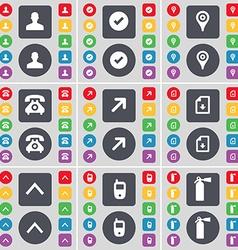 Avatar Tick Checkpoint Retro phone Full screen vector image