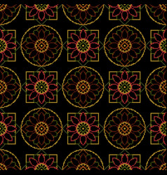 Background cross stitch ornament wrapping paper vector
