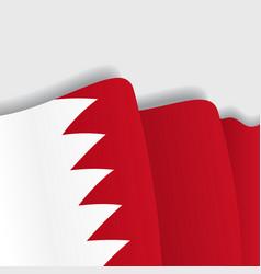 Bahrain waving flag vector