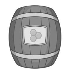 Barrel of honey icon black monochrome style vector image