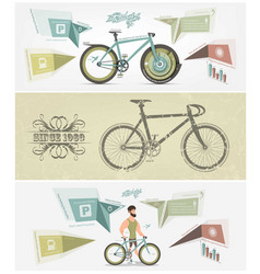 bicycle banner for facebook poster design vector image