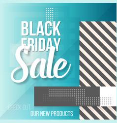 black friday sale lettering modern paper vector image