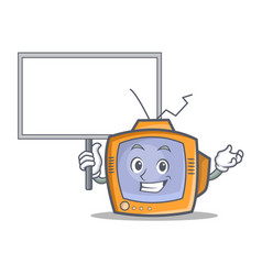 Bring board tv character cartoon object vector