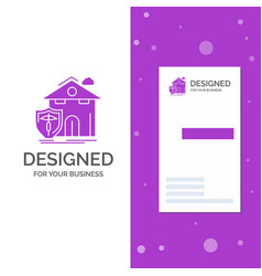 Business logo for insurance home house casualty vector