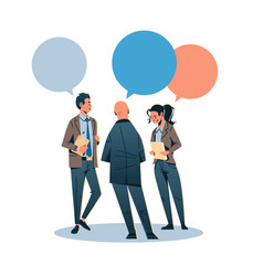 Business people chat bubble communicating concept vector
